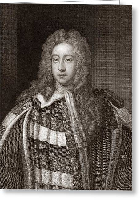 Viscount Bolingbroke, English Statesman Greeting Card by Middle Temple Library