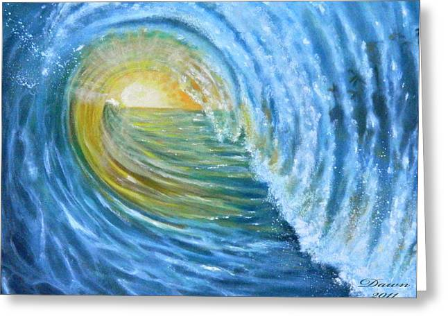 Greeting Card featuring the painting Vision by Dawn Harrell