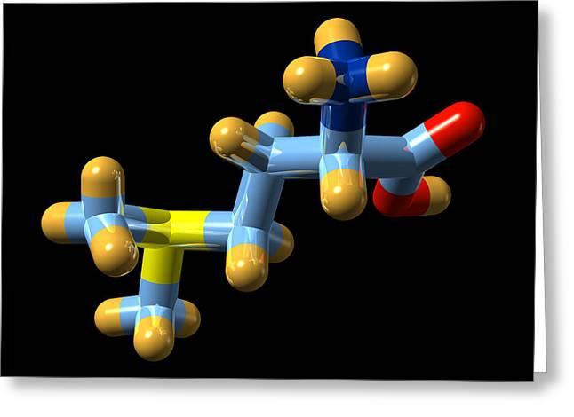Vitamin U, Molecular Model Greeting Card by Dr Mark J. Winter