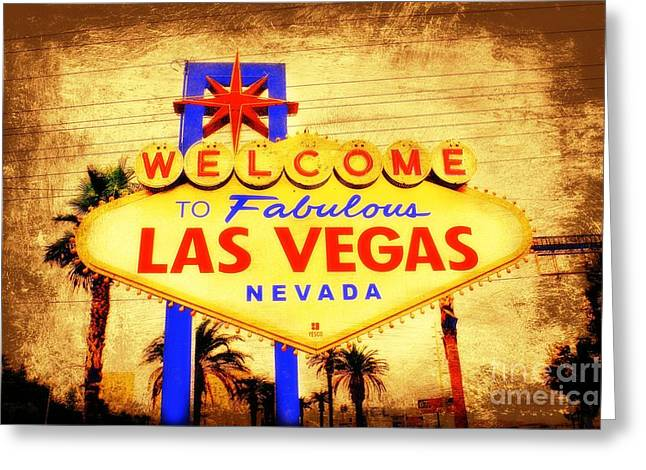 Viva Las Vegas Greeting Card by Kevin Moore