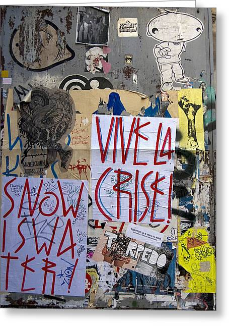 Vive La Crise Greeting Card
