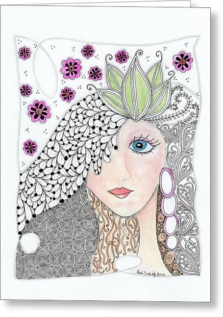 Vivian Greeting Card by Paula Dickerhoff