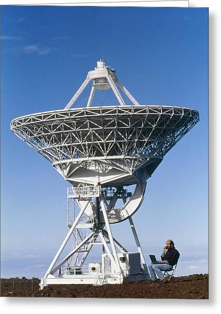Vlba Radio Telescope Greeting Card by G. Brad Lewis