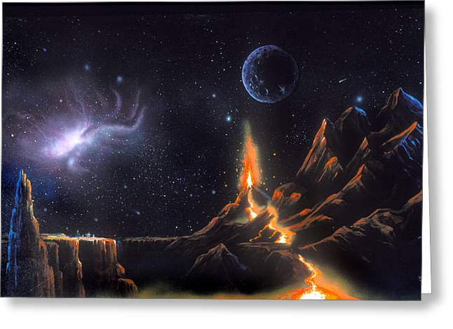 Volcanic Planet Greeting Card