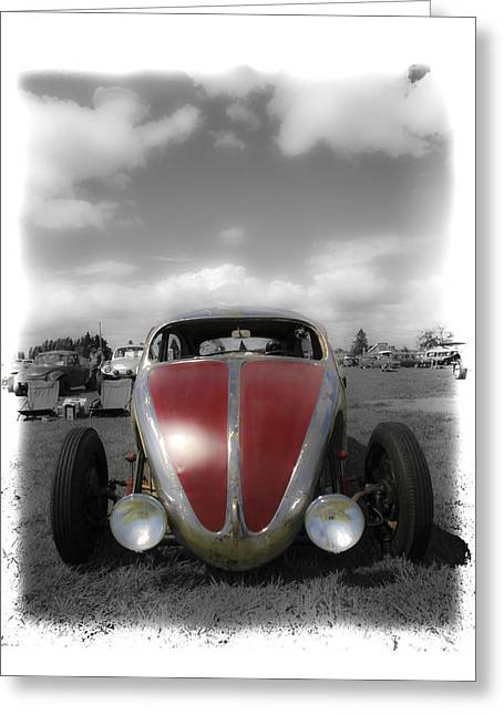 Volksrod Fade Greeting Card by Steve McKinzie