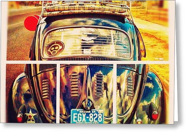 #volkswagen #bug #beetle #ragtop Greeting Card