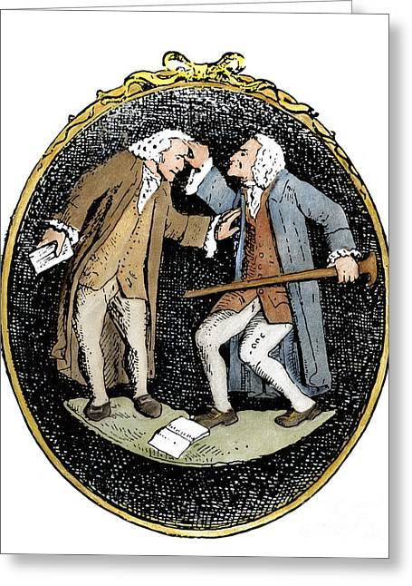 Voltaire & Rousseau Greeting Card
