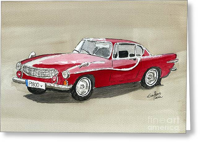 Volvo P1800 Greeting Card