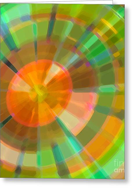 Vorticose Greeting Card by ME Kozdron