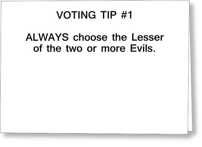 Voting Tip #1 Greeting Card