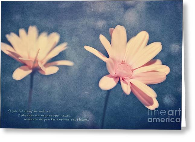 Voyager De Par Les Aromes Des Fleurs Greeting Card by Aimelle