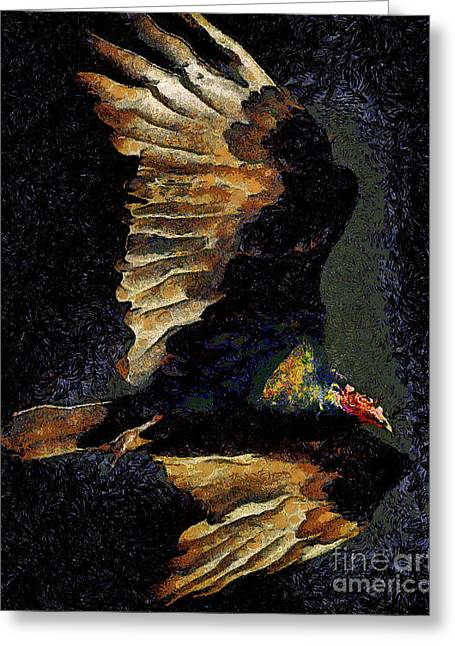 Vulture In Van Gogh.s Dream Returns . 40d8879 Greeting Card by Wingsdomain Art and Photography