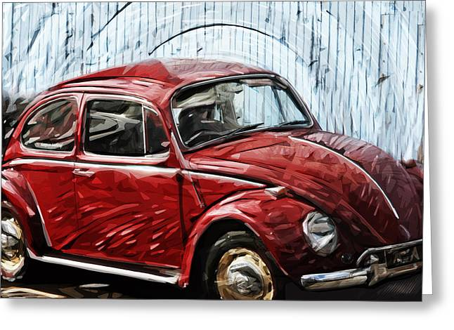 Vw Beetle Greeting Card by Tilly Williams