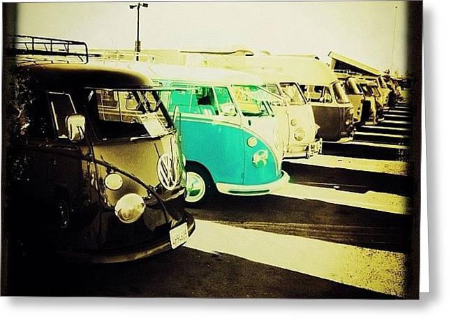 #vw #volkswagon #bus #buses Greeting Card