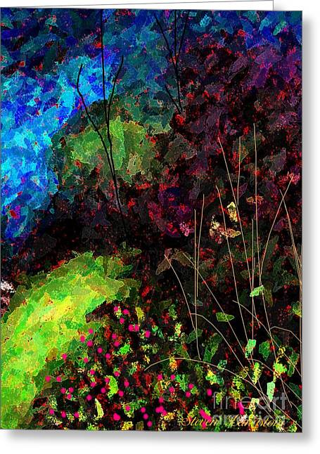 Wacked Out Garden Greeting Card