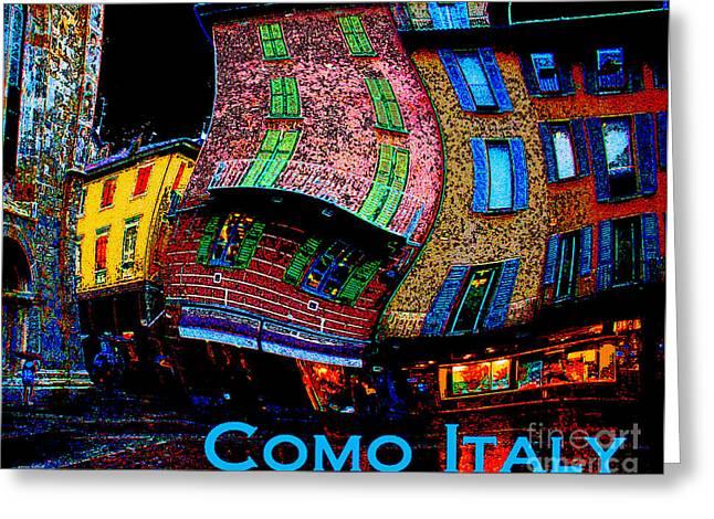 Wacky Como Italy Greeting Card