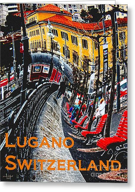 Wacky Lugano Switzerland Greeting Card