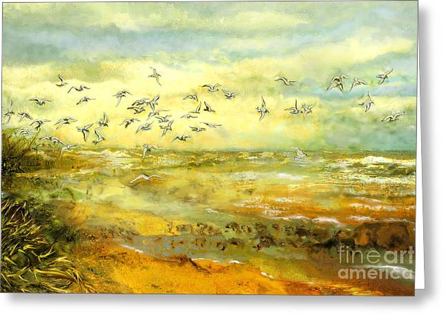 Wadden Sea Greeting Card by Anne Weirich