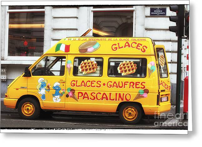 Waffle Truck Greeting Card by John Rizzuto