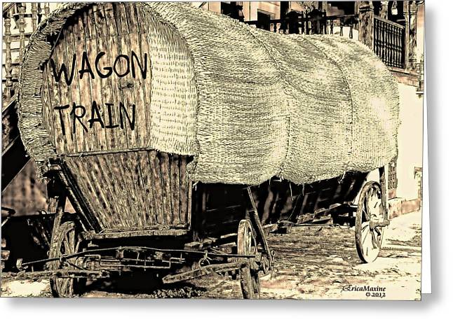 Wagon Train Greeting Card
