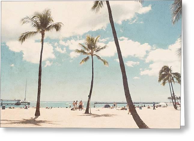 Waikiki Greeting Card by Nastasia Cook