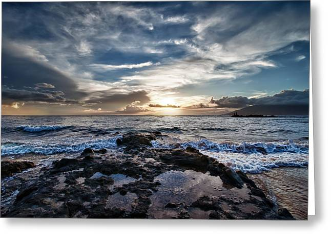 Greeting Card featuring the photograph Wailea Sunset by John Maffei