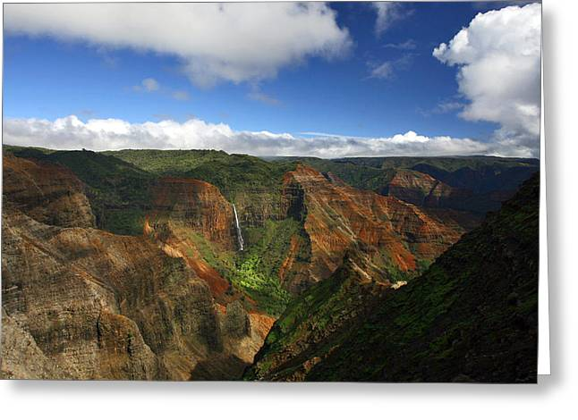 Waimea Canyon Landscape Greeting Card