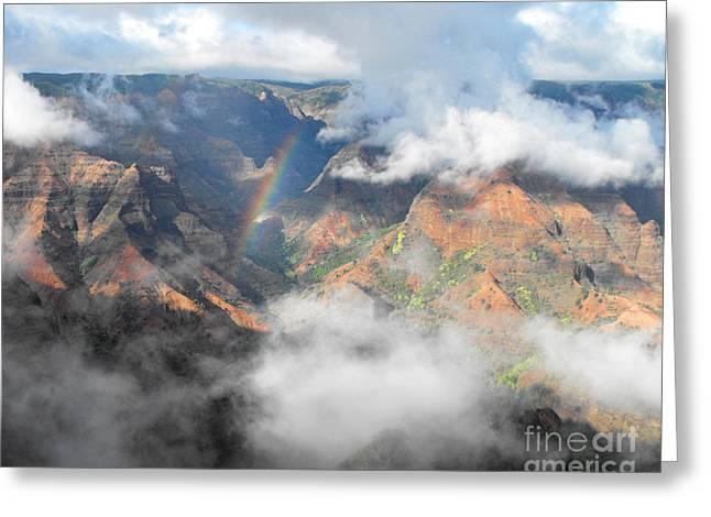 Waimea Canyon Rainbow Greeting Card