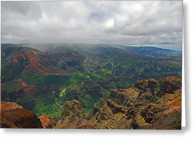 Waimea Canyon Weather Greeting Card by Lynn Bauer