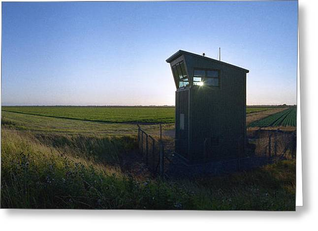 Wainfleet Control Tower Greeting Card by Jan W Faul