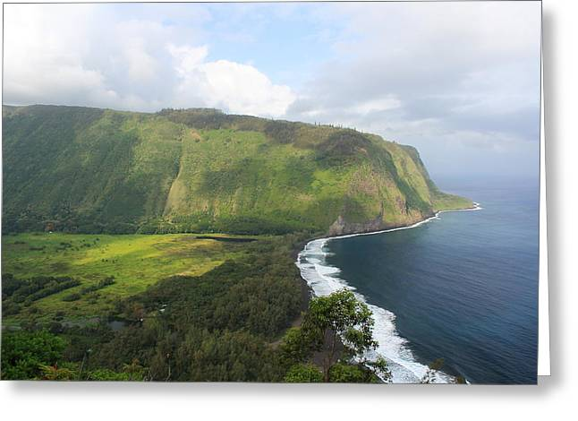 Greeting Card featuring the photograph Waipio Valley by Scott Rackers