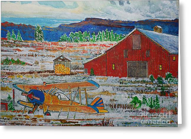 Waiting For Better Weather Greeting Card by Donald McGibbon