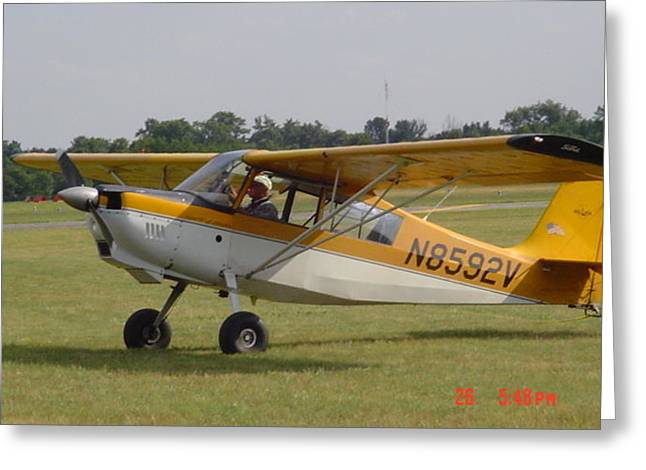 Waiting For Glider Greeting Card by Dennis Leatherman