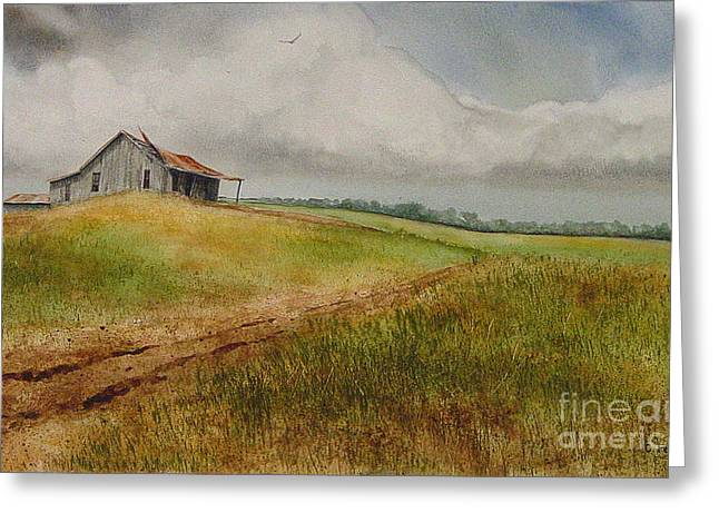 Waiting For The Summers Rain Greeting Card by Charles Fennen