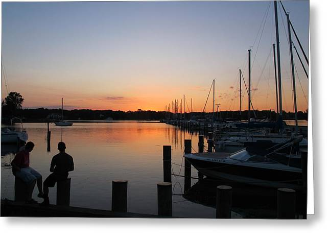 Waiting For The Sunrise Greeting Card by Valia Bradshaw