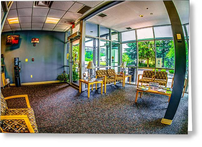 Waiting Room Greeting Card by Ken Beatty