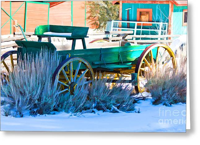 Waiting Wagon Greeting Card