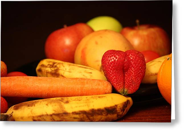Wake Up - Fruit Is In The Air Greeting Card by Andrea Nicosia