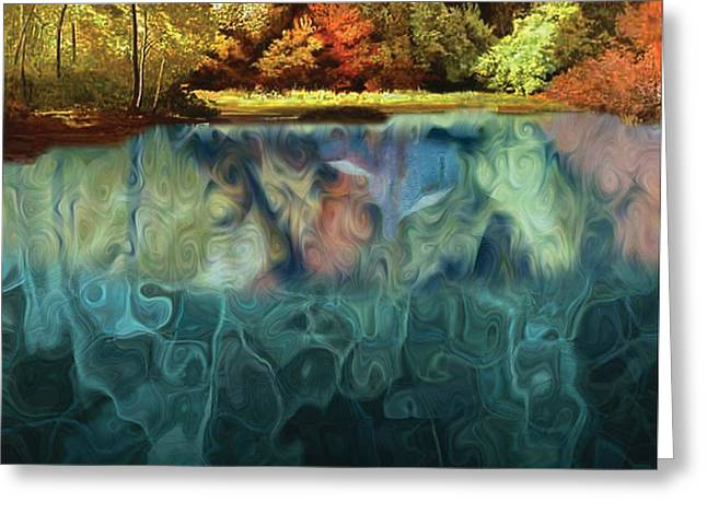 Walden Pond II Greeting Card by David Glotfelty