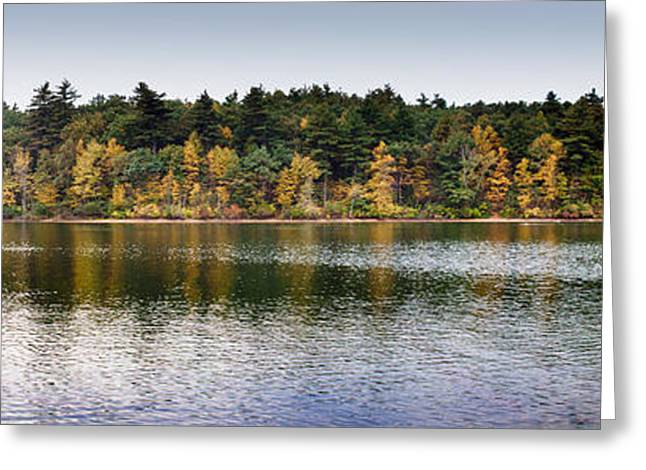 Walden Pond Panorama I Greeting Card by Thomas Marchessault