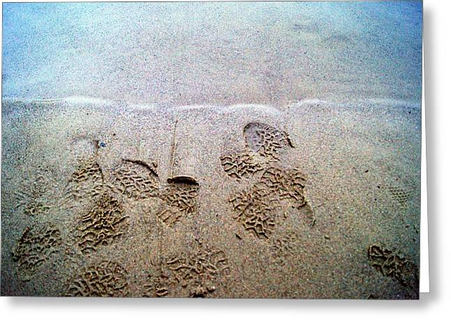 Walk In The Sand Greeting Card by Tristan Bosworth