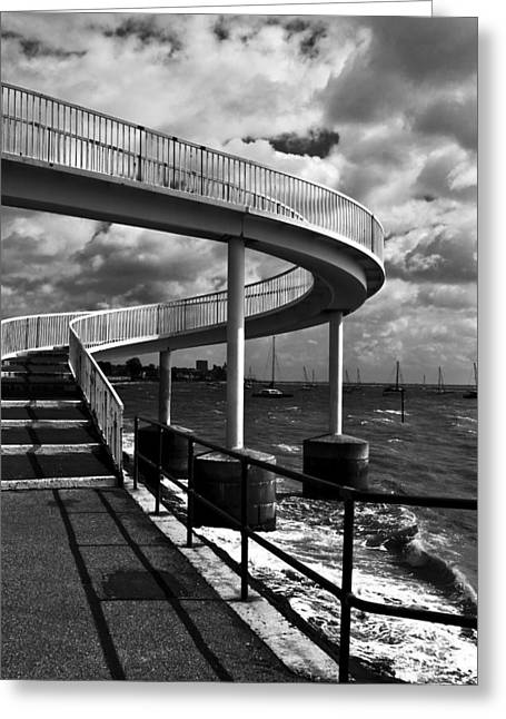 Greeting Card featuring the photograph Walk Over Water by Trevor Chriss