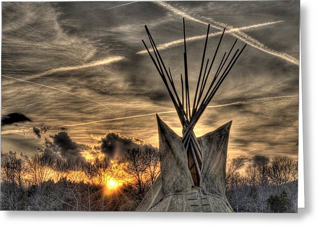 Walk Softly On The Earth Greeting Card by William Fields