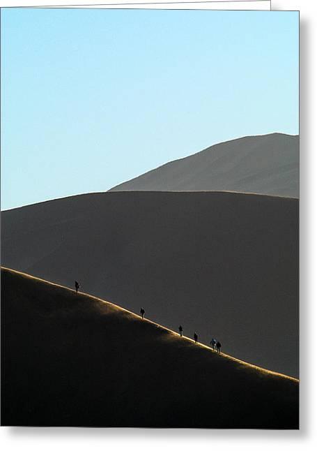 Walk The Edge Greeting Card