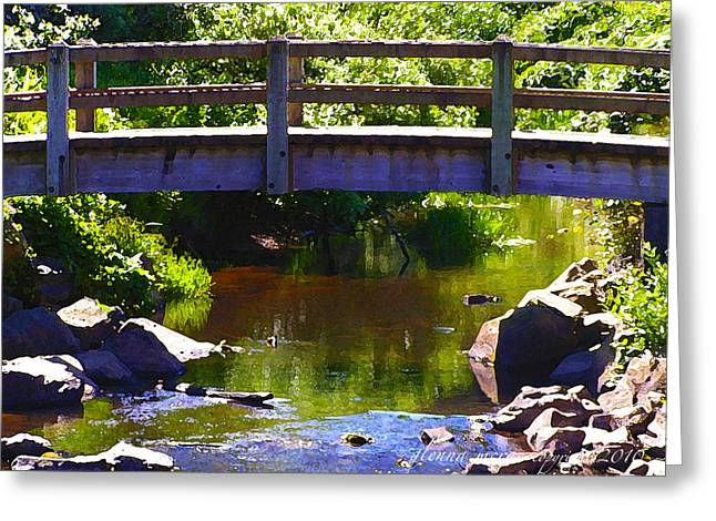 Walking Bridge At Otter Crest Greeting Card