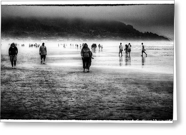 Walking In The Mist Greeting Card