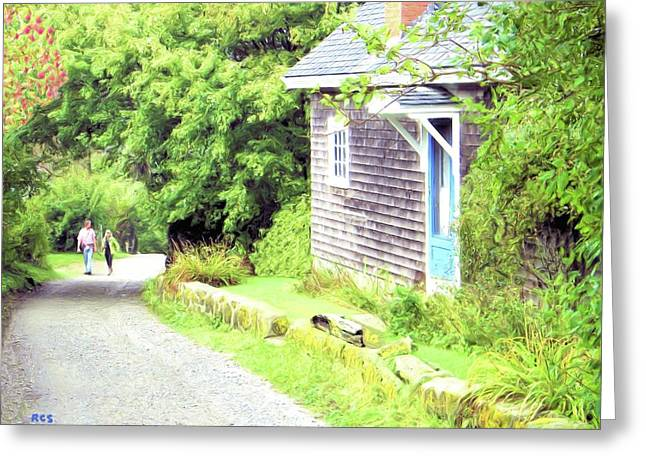 Walking Monhegan Greeting Card