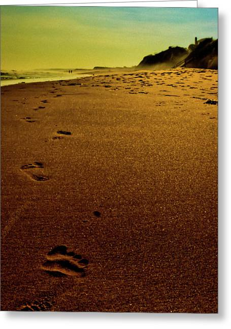 Walking Off Into The Sunset Greeting Card by David Hahn