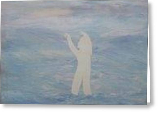 Walking On Clouds Greeting Card
