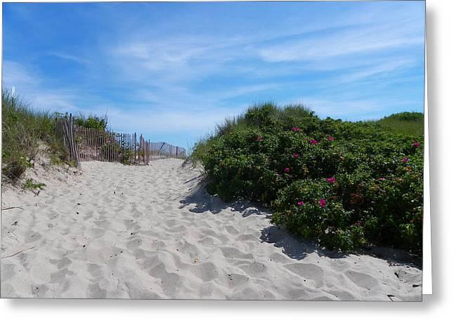 Walking Through The Dunes Greeting Card